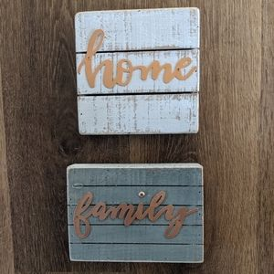 Home and Family house decor signs